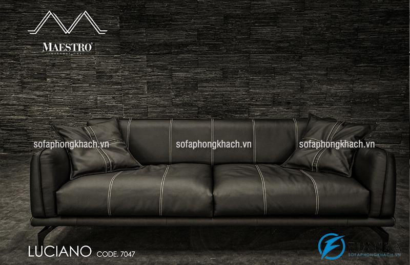 Ghế sofa văng bằng da bò thật cao cấp nhập khẩu Malaysia