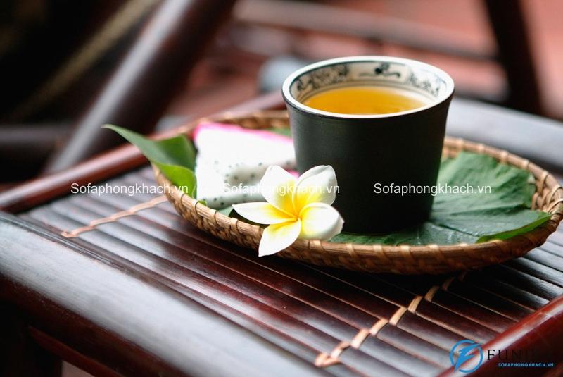 Bàn trà mang đậm hồn Việt