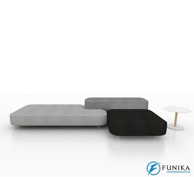 Chiếc sofa phòng khách này giống như các hình khối trong trò chơi xếp hình quen thuộc