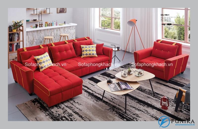 Rực lửa và nổi bần bật chính là những từ dùng để miêu tả mẫu sofa giường cực phẩm này