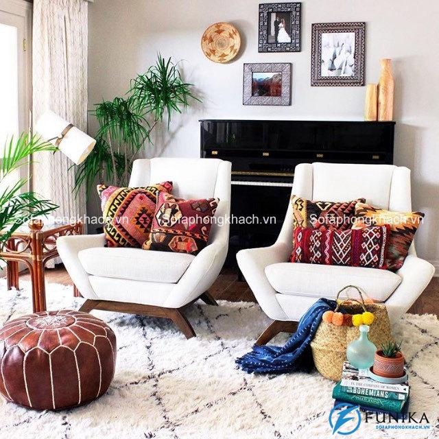 Ghế sofa phòng khách nhỏ có thể được sử dụng ấn tượng và đầy sáng tạo trong các không gian chật hẹp
