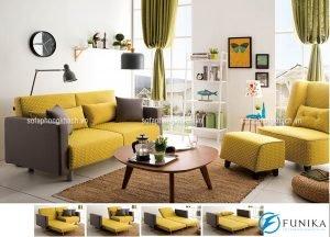 Sofa cho phòng khách với gam màu độc đáo, tươi trẻ và đầy sức sống