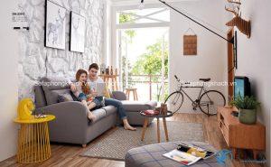 Đây là mẫu ghế sofa giường góc màu xám nhạt bán rất chạy của chúng tôi
