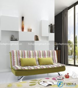 Cùng với những gam màu sáng, nổi bật, sofa giường kẻ sọc sẽ là điểm nhấn hoàn hảo