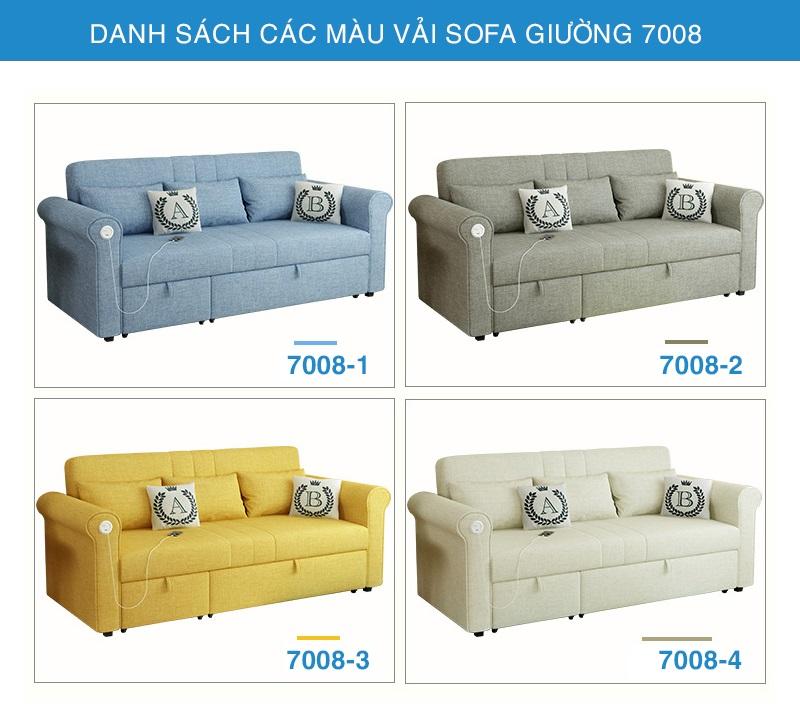 bảng màu vải sofa giường 7008
