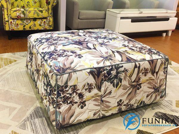 Đôn vuông sofa vải TL050