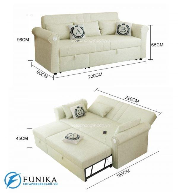 Mẫu sofa giường tại hcm mã 7008