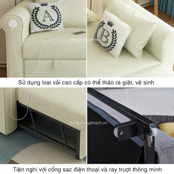 tiện ích vượt trội cua sofa giường 7008