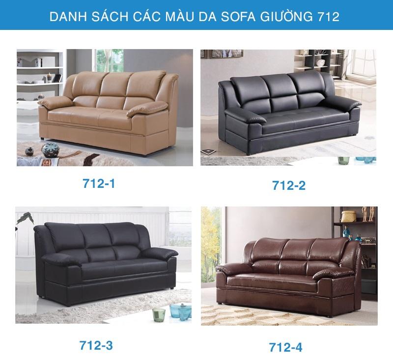 bảng màu sofa giường nhập khẩu 712