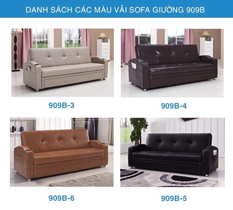 bảng màu sofa giường nhập khẩu 909B