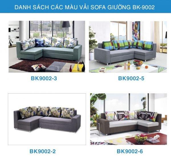 bảng màu vải sofa giường 9002