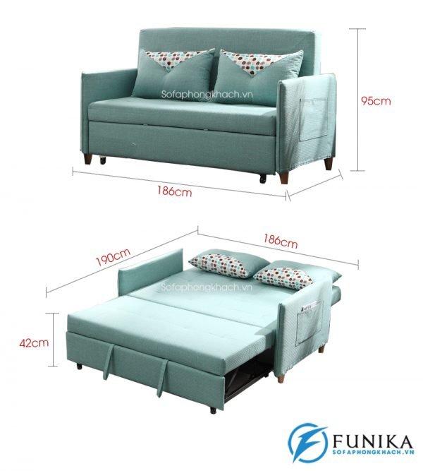kích thước chi tiết sofa giường đẹp 6065B