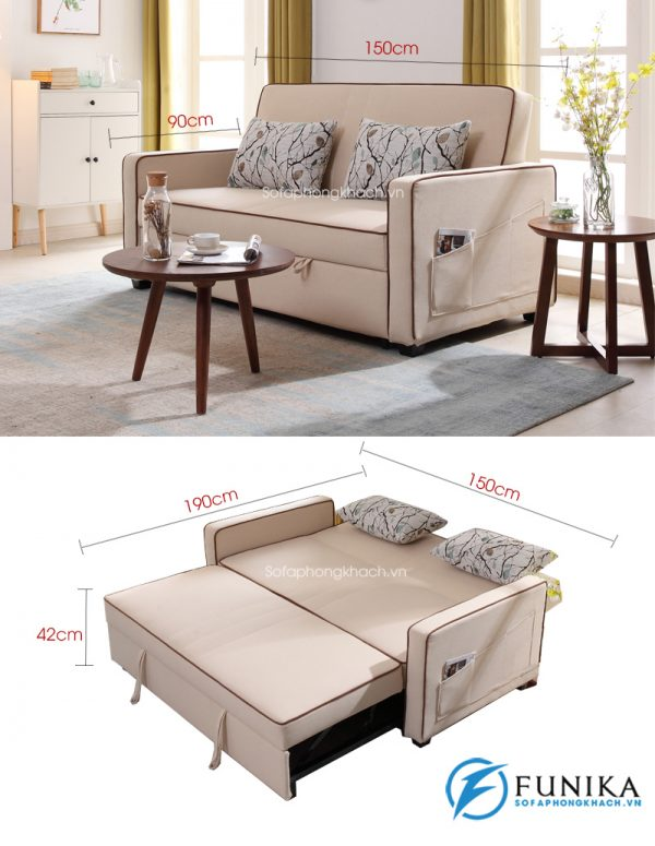 kích thước chi tiết sofa giường đẹp 7006-1
