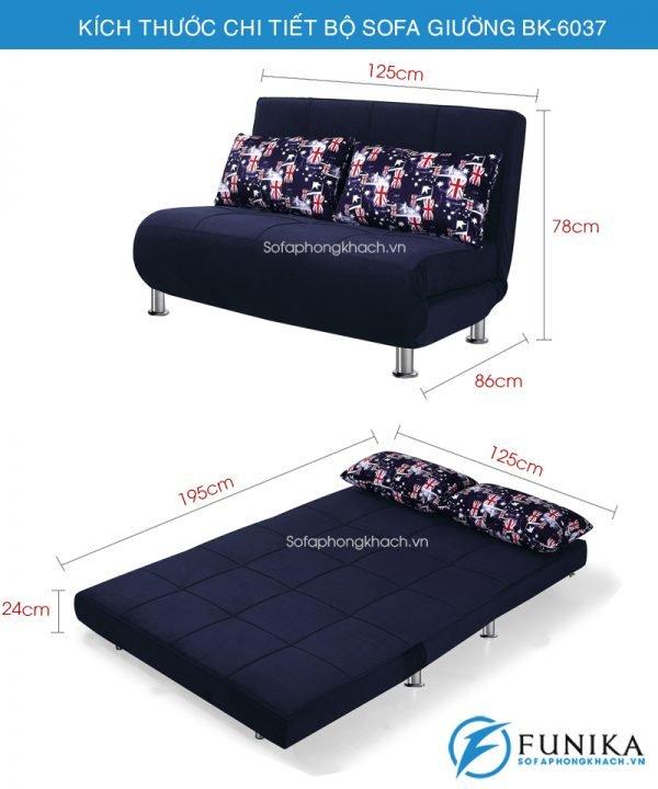 Kích thước Sofa giường đẹp bk-6037
