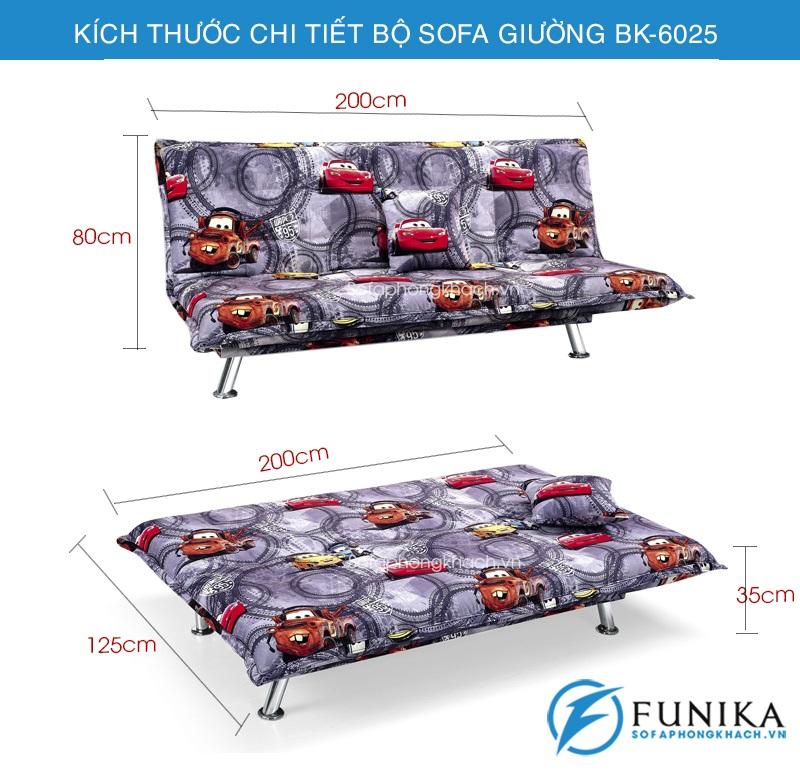 kích thước sofa giường đa năng BK-6065