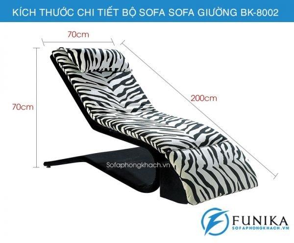 kích thước chi tiết sofa giường thư giãn 8002