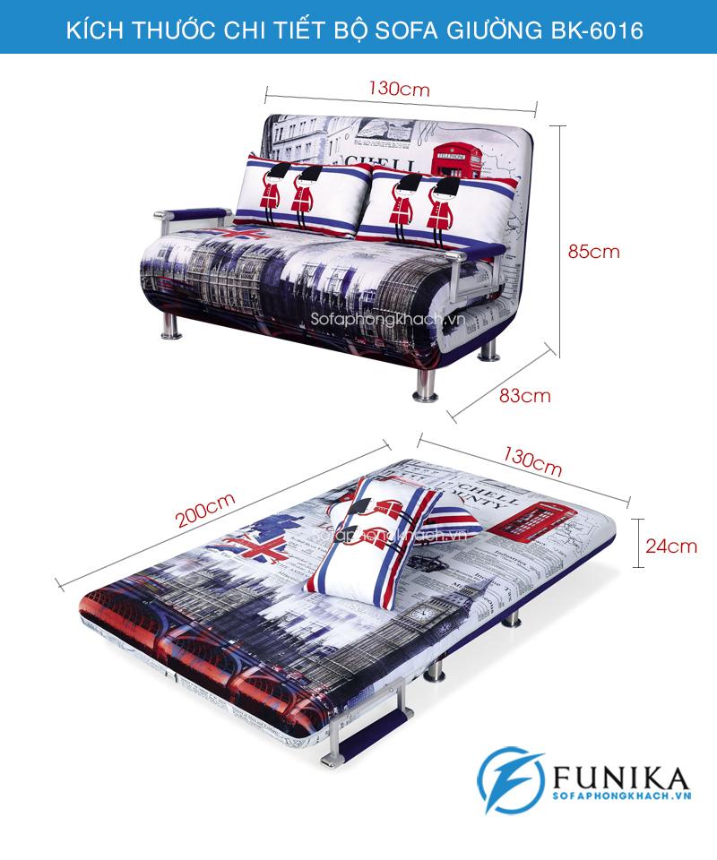 kích thước sofa giường bk-6016