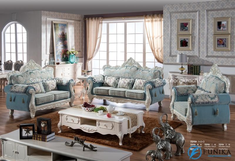 Sofa tân cổ điển cho phòng khách sang trọng và quý tộc