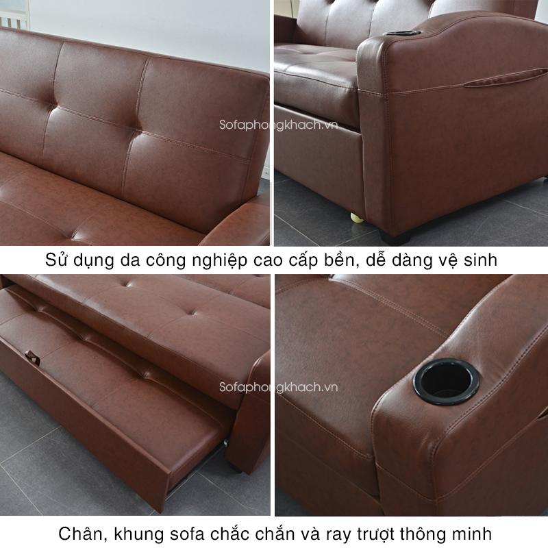 tiện ích vượt trội sofa giường da 909A
