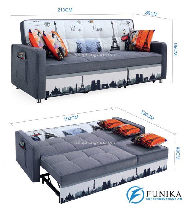 kích thước chi tiết sofa giường 6080