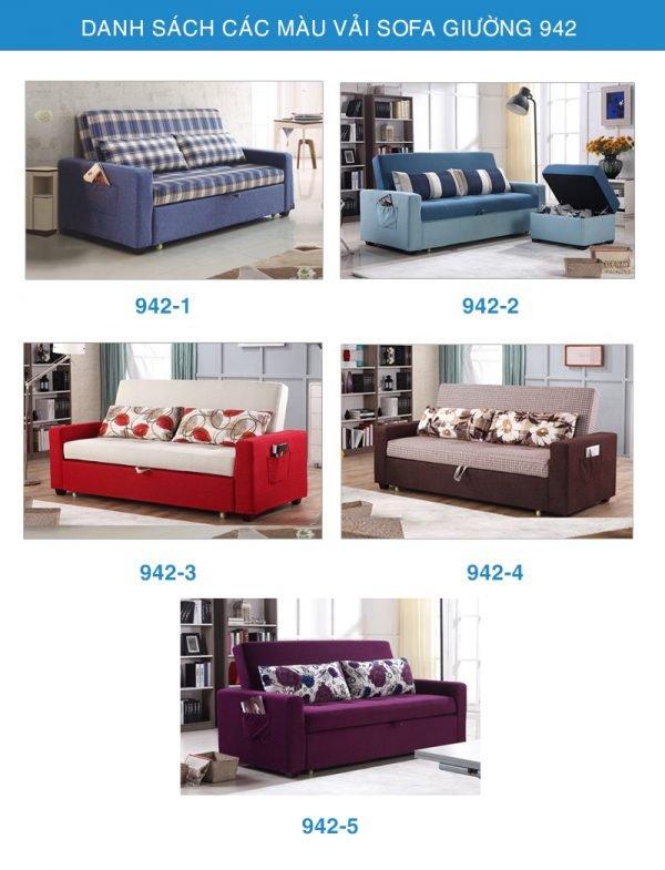bảng màu vải sofa giường đa năng 942