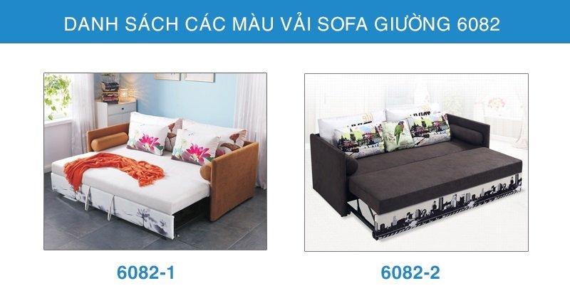 bảng màu vải sofa giường 6082