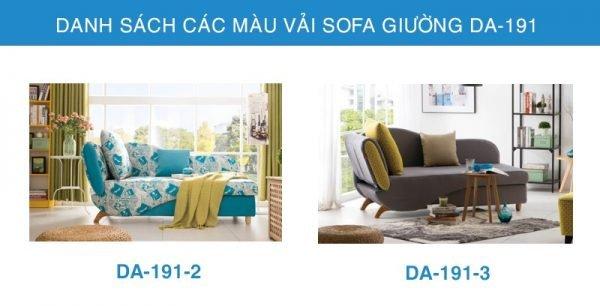 bảng màu vải Sofa giường đẹp DA-191