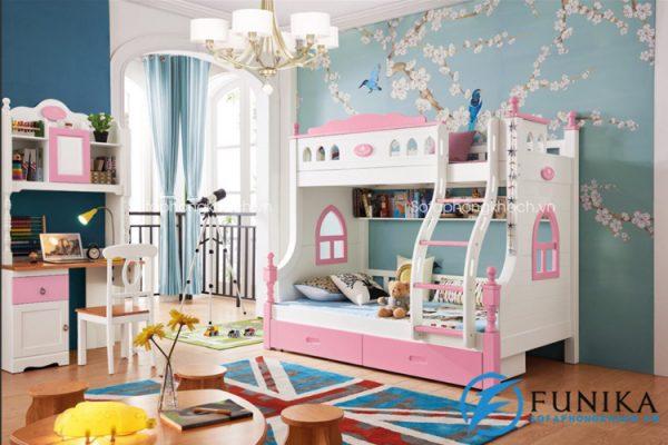 giường tầng trẻ em cao cấp TL-096