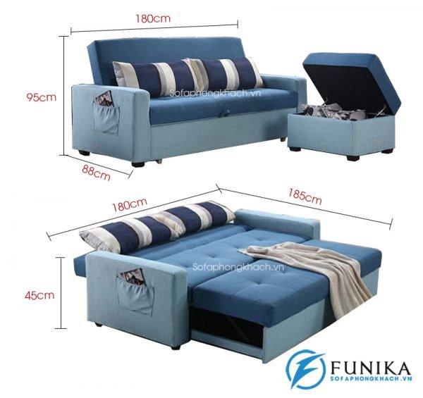 kích thước sofa giường đa năng 942-1