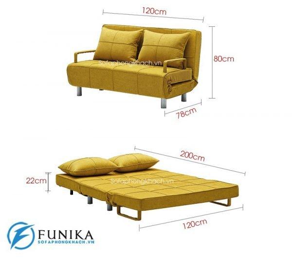 kích thước chi tiết sofa giường DA-108B