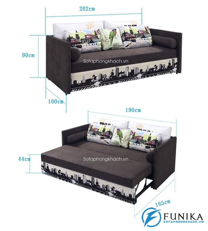 kích thước chi tiết sofa giường đẹp 6082