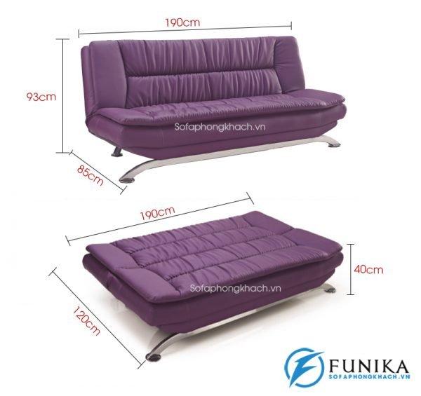 kích thước chi tiết sofa giường 937