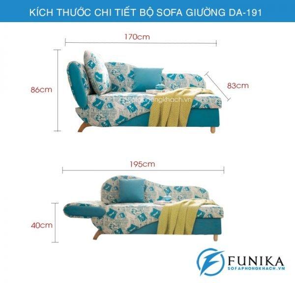 kích thước Sofa giường đẹp DA-191