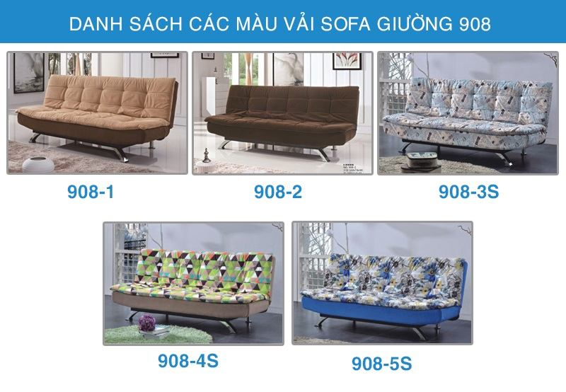 các màu sofa giường 908