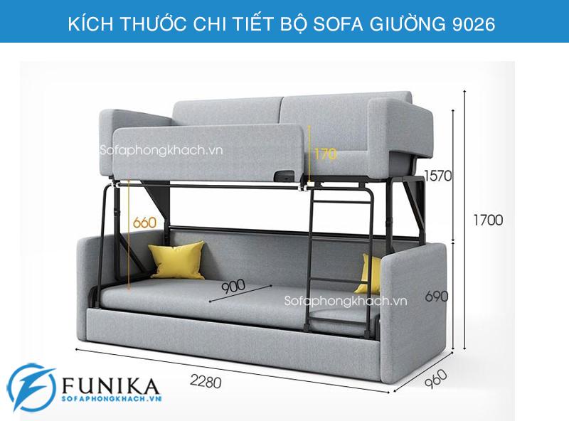 Kích thước sofa giường 9026