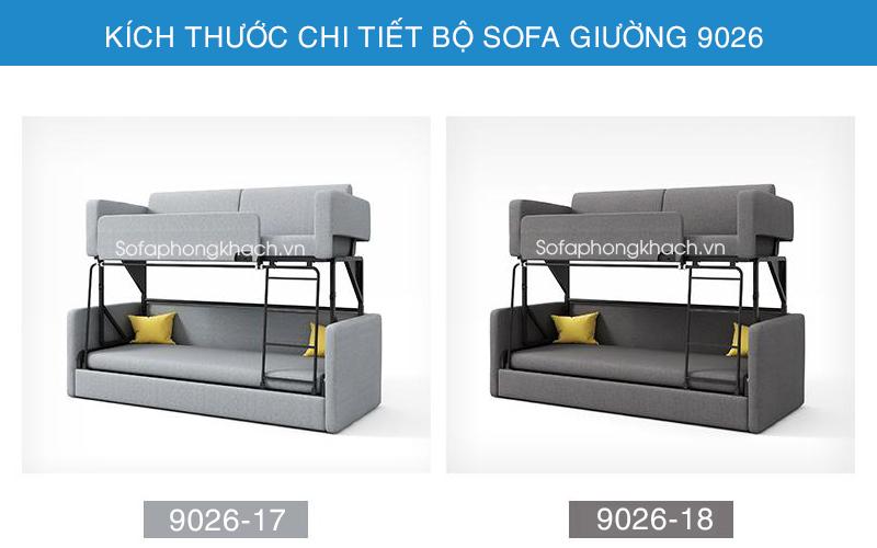 Bảng màu vải sofa giường 9026