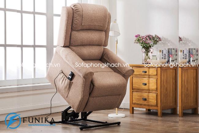 Ghế sofa thư giãn nhập khẩu chất lượng vải với chân xoay thanh thoát và tiện dụng