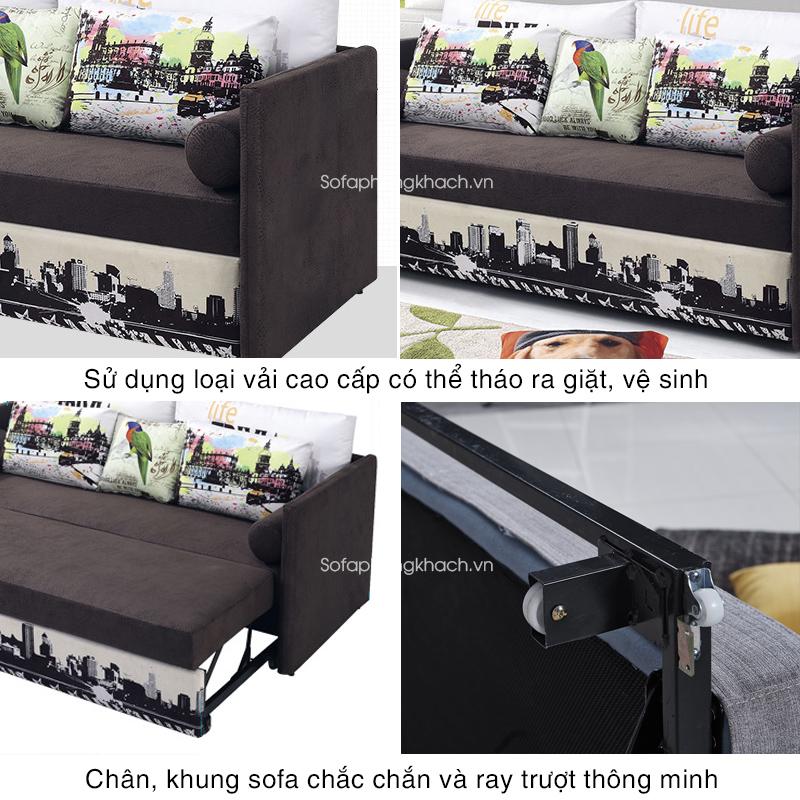 tiện ích vượt trội của sofa gường 6082