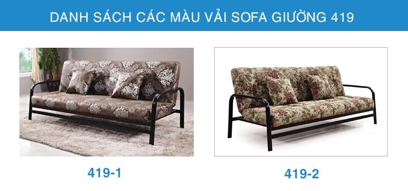 bảng màu vải sofa giường đẹp 419