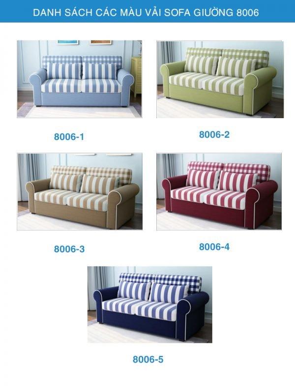 bảng màu vải sofa giường đẹp 8006
