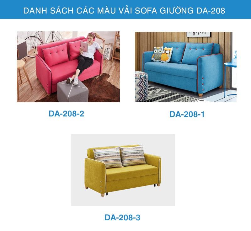 bảng màu vải sofa giường đẹp DA-208-1