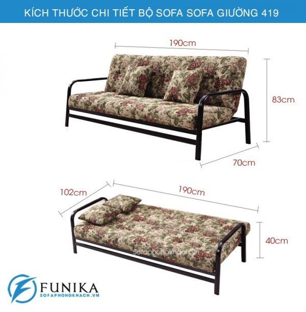 kích thước sofa giường đẹp 419