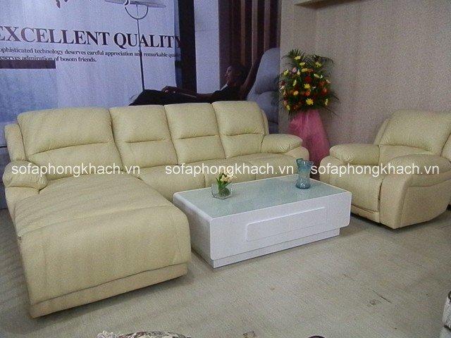 Sofa góc màu kem thanh lịch và trang nhã