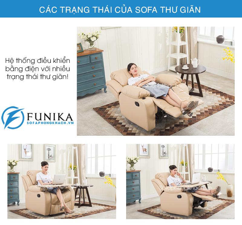 Các trạng thái của ghế sofa thư giãn