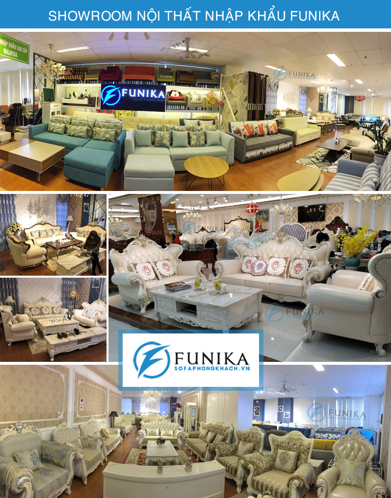 Showroom sofa cổ điển Funika