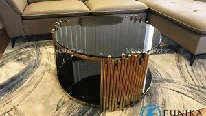 Bàn trà mặt kính 718C