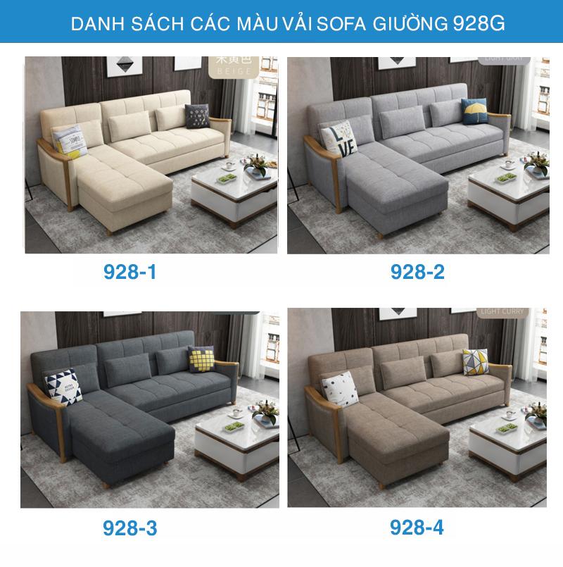bảng màu sofa giường 928G