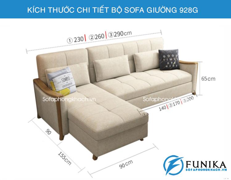 Sofa giường góc đa năng 928G