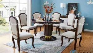bàn ăn cổ điển đương đại Patrick XM-DT1008