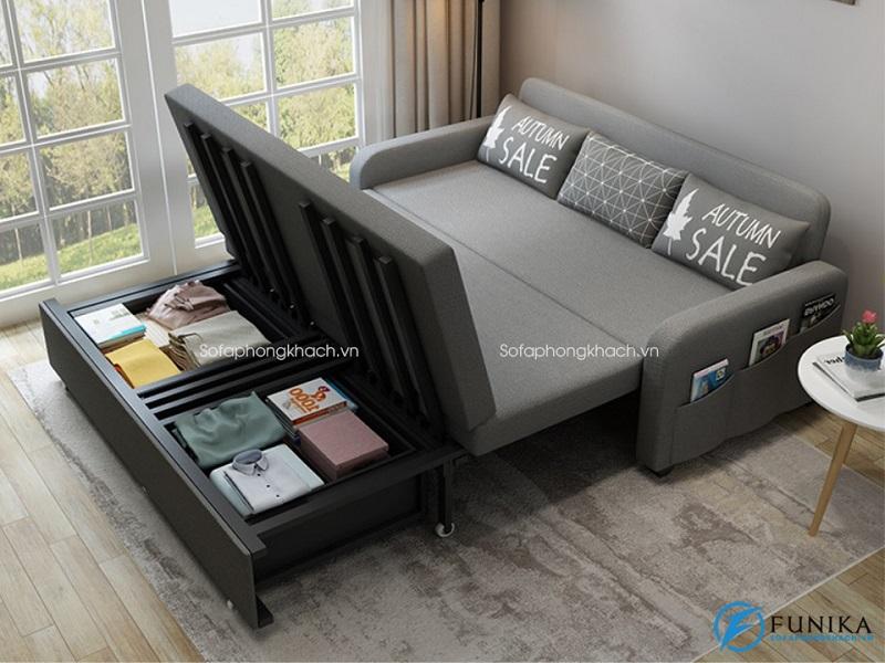 Sofa giường hải phòng có hộp chứa đồ thông minh